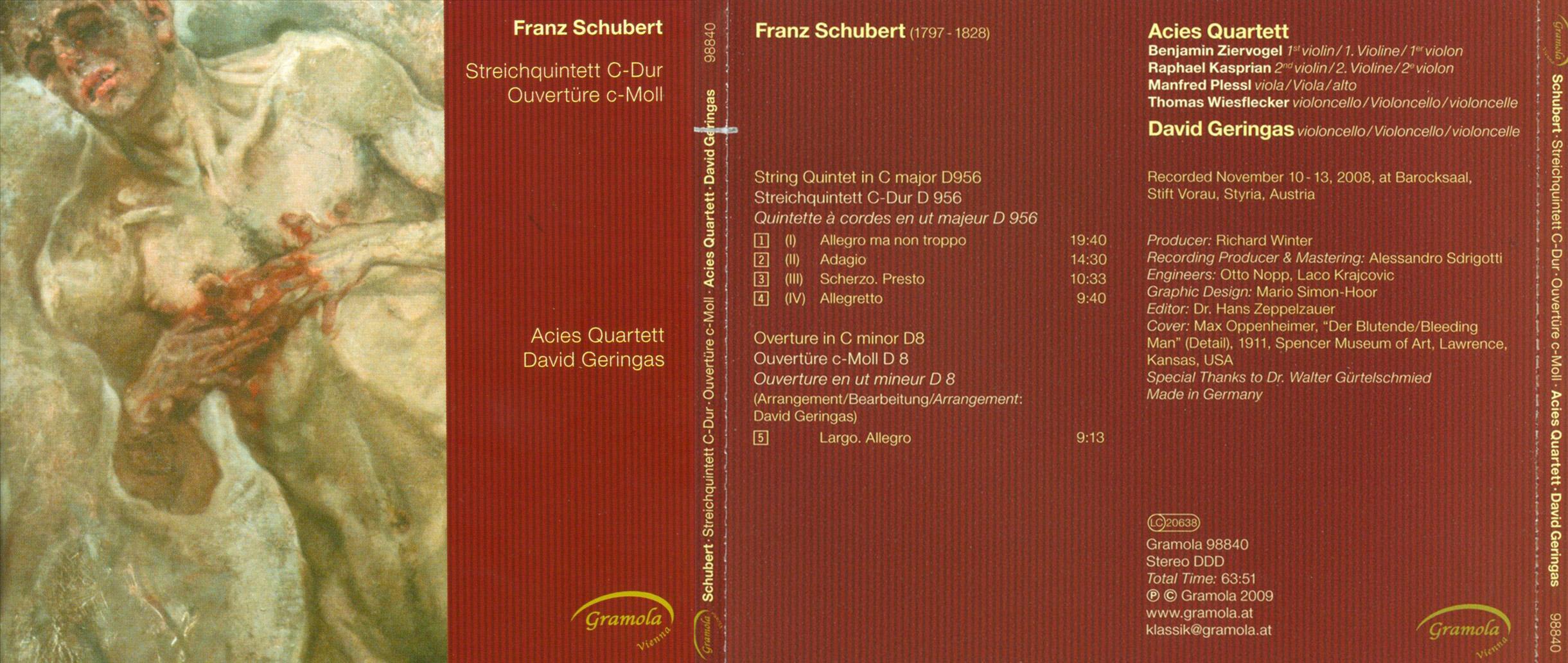 Klassik   Franz Schubert: Streichquintett C-Dur; Ouvertüre c-moll