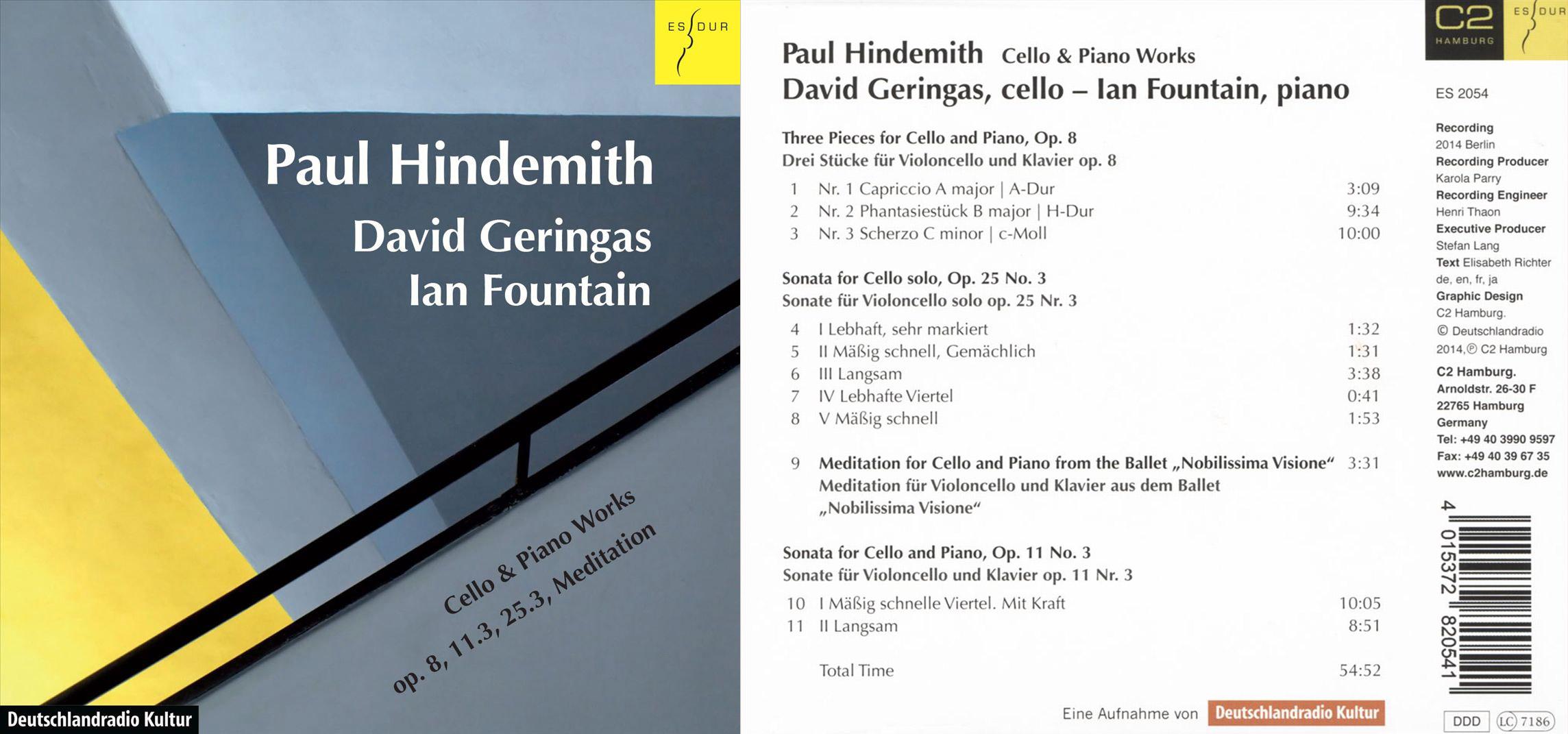 Klassik | Hindemith, Paul – Werke für Cello und Klavier