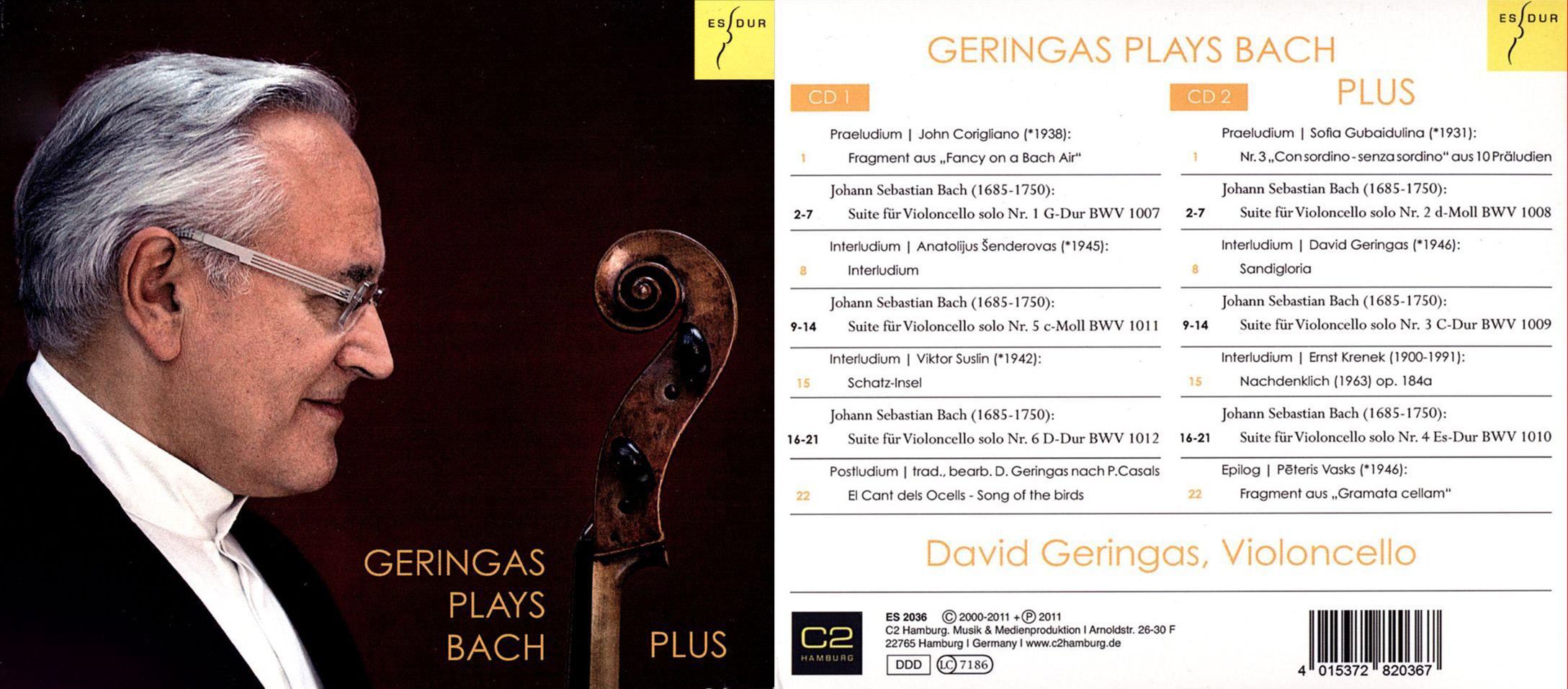 Gramophone – Geringas plays Bach Plus