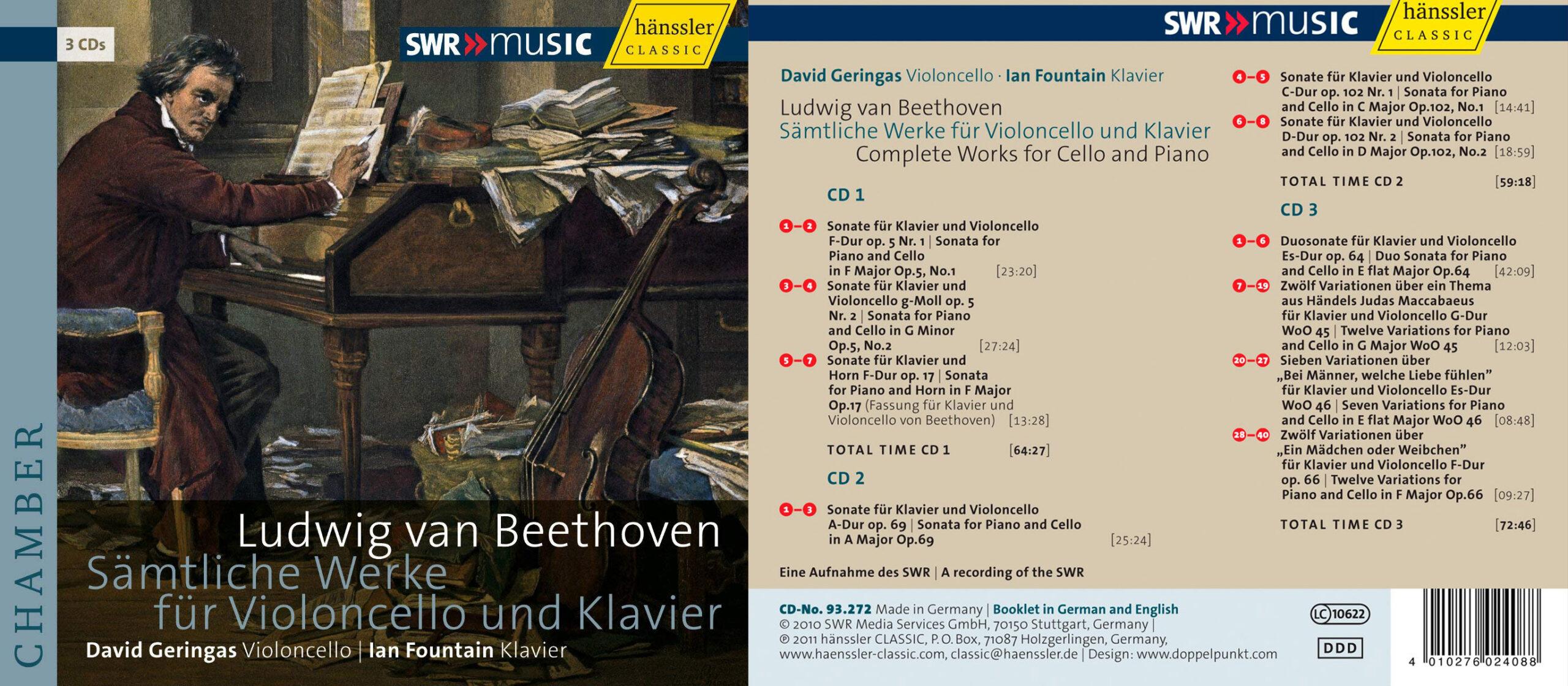 Concerti | BEETHOVEN, L. van: Cello and Piano Works | Ausgewogen und kultiviert