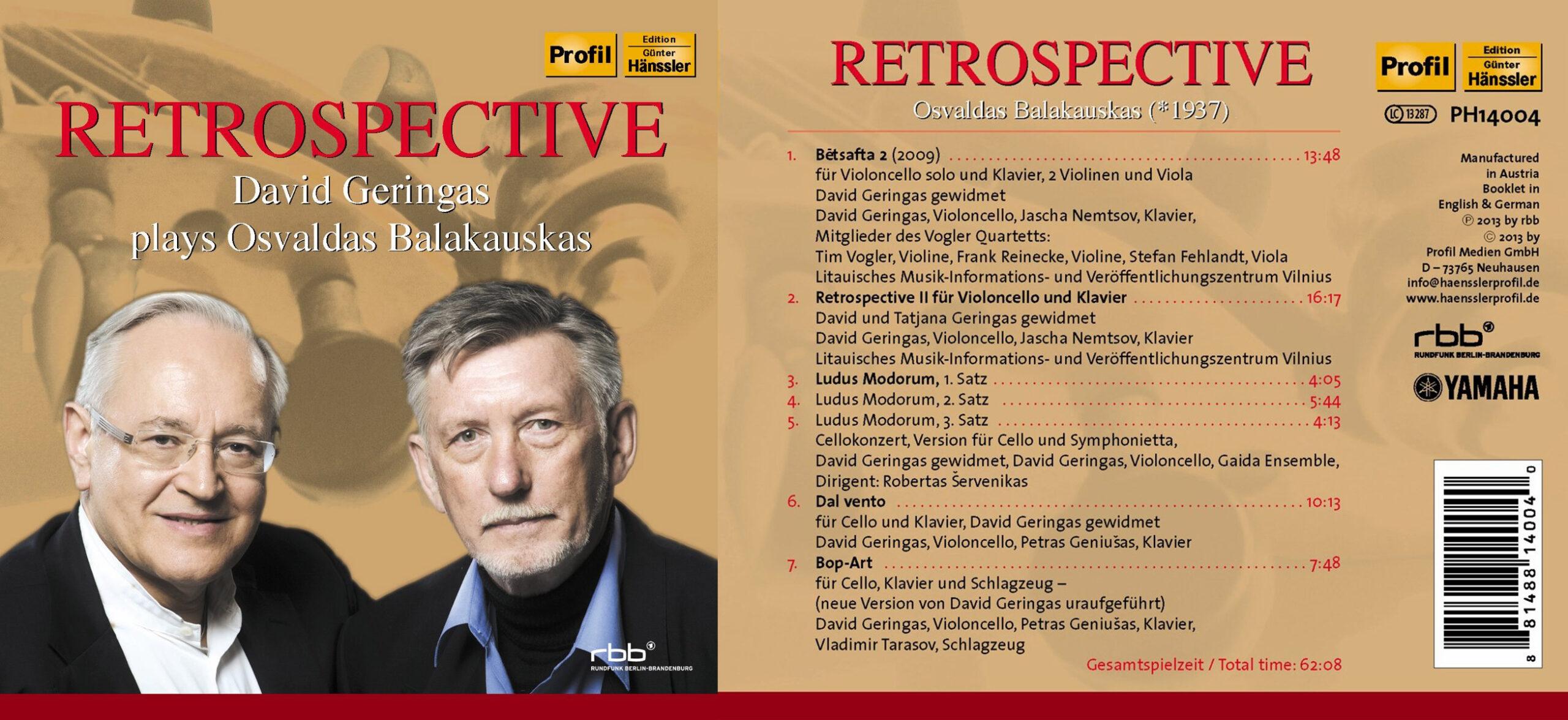 Berliner Zeitung – Retrospective, David Geringas Plays Osvaldas Balakauskas