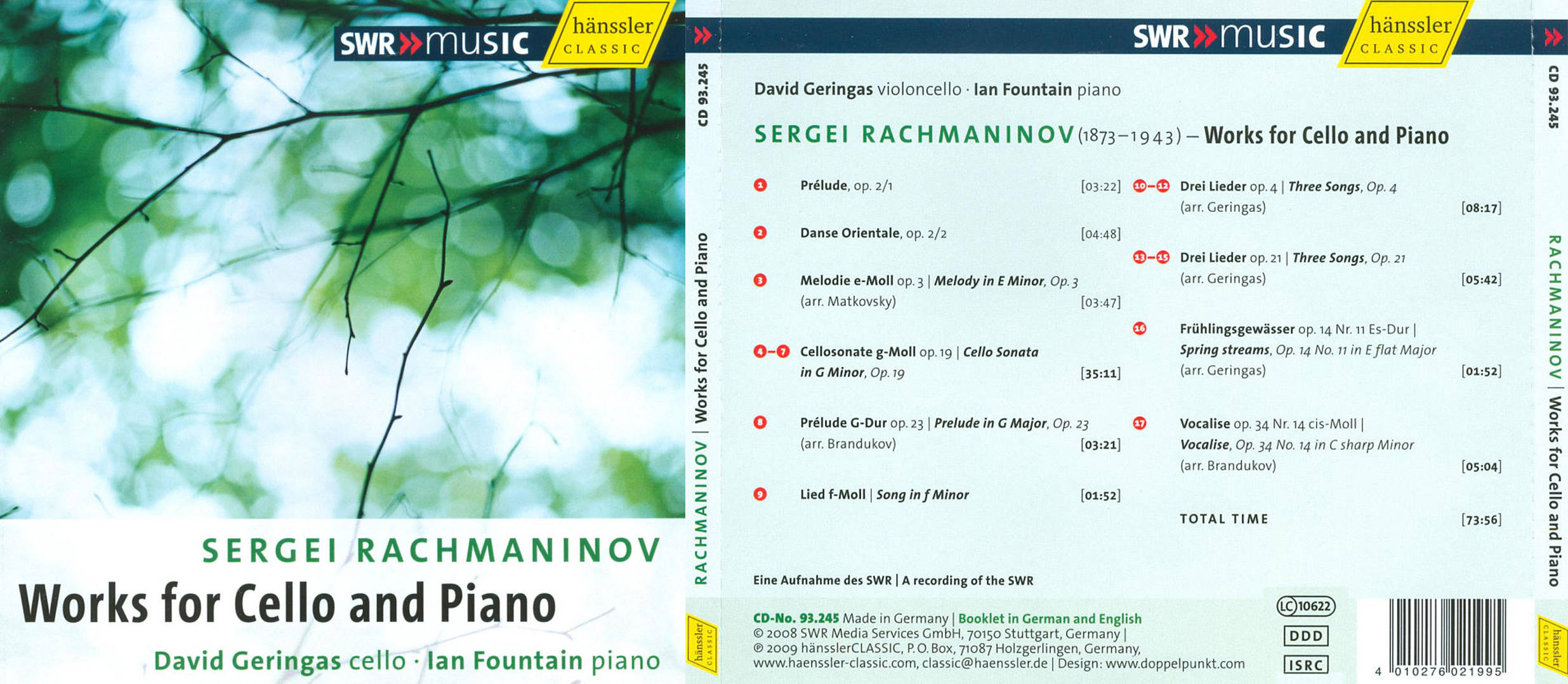Klassik Heute | David Geringas spielt Rachmaninow