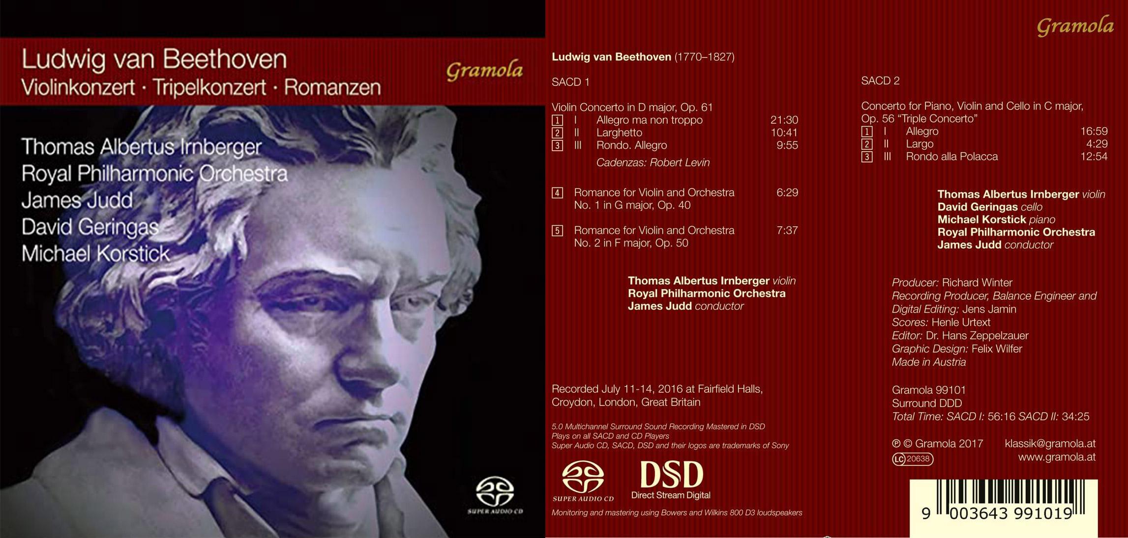 Pizzicato | Beethoven: Violinkonzert, Tripelkonzert, Romanzen