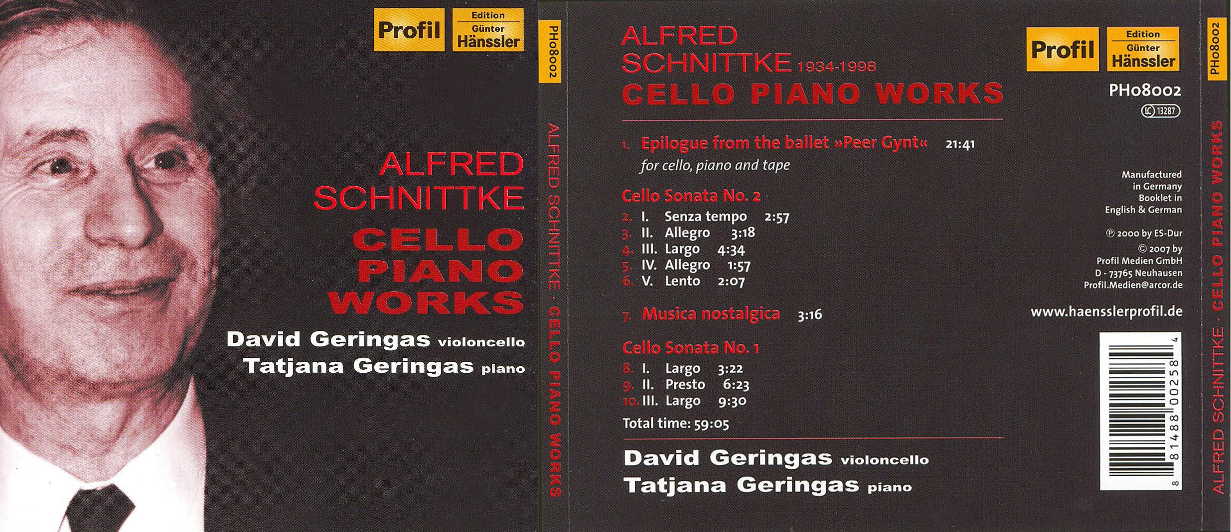 ALLMUSIC | Schnittke: Cello & Piano Works