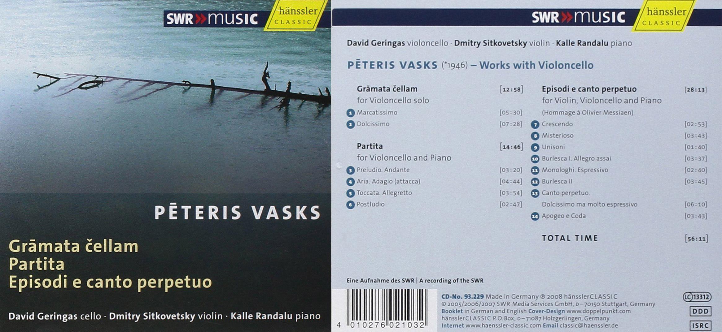 BBC Music Magazine | Gramata Cellam / Partita / Episodi E Canto Perpeto