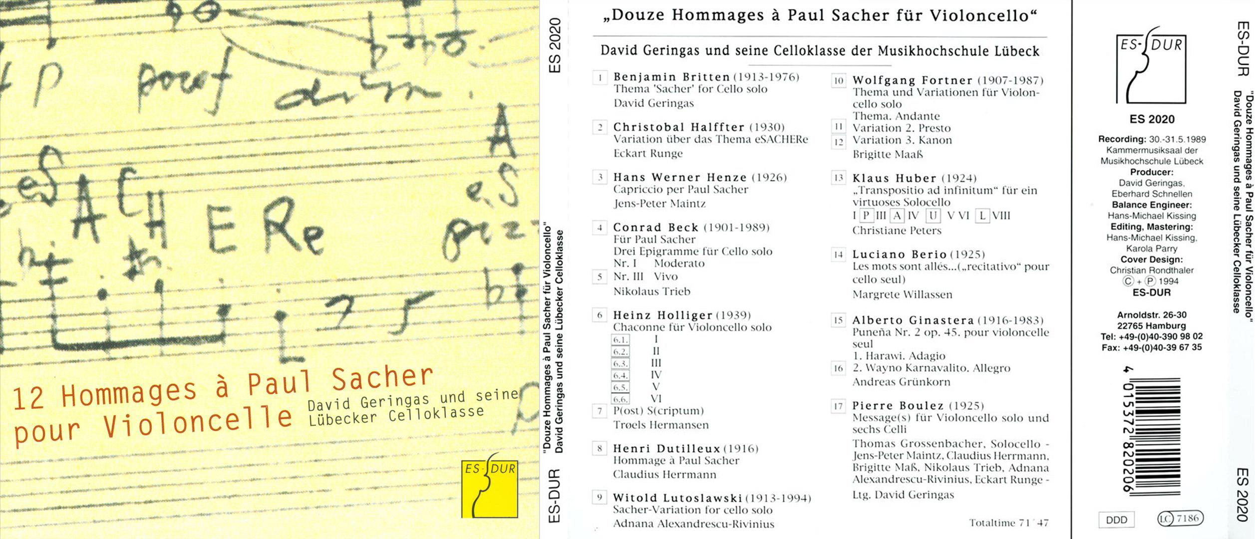 c2hamburg | David Geringas – Hommages a Sacher