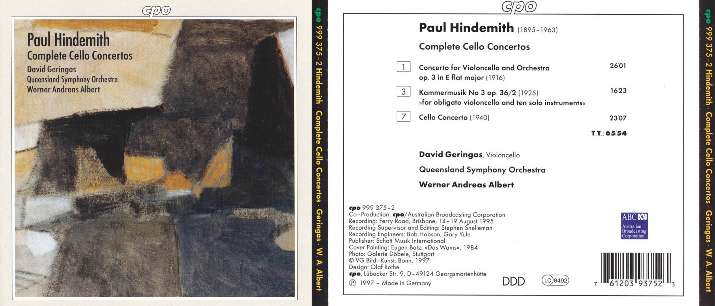 ALLMUSIC | Hindemith: Complete Cello Concertos