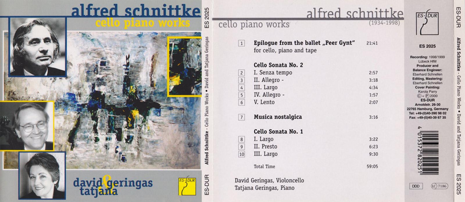 Klassik Heute | Alfred Schnittke: Cello Piano Works
