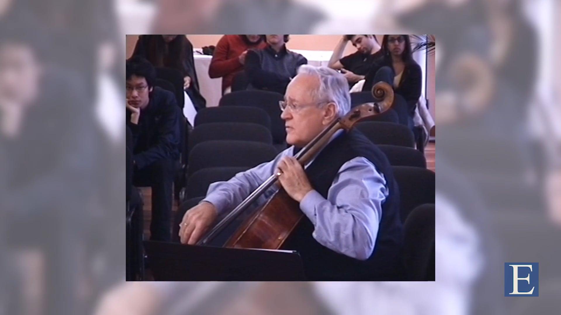 Canal Escuela  | David Geringas: Debussy – Cello sonata CD 144 – I. Prologue